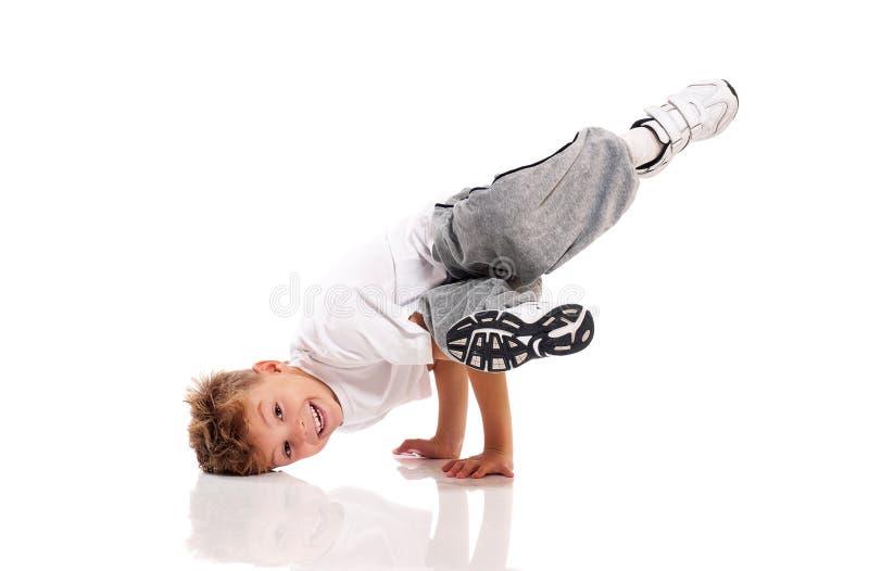 Het dansen van de jongen stock foto's