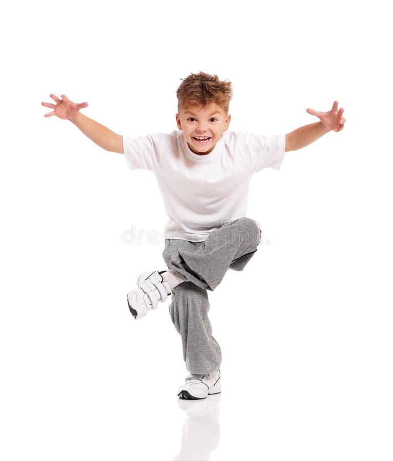 Het dansen van de jongen stock foto