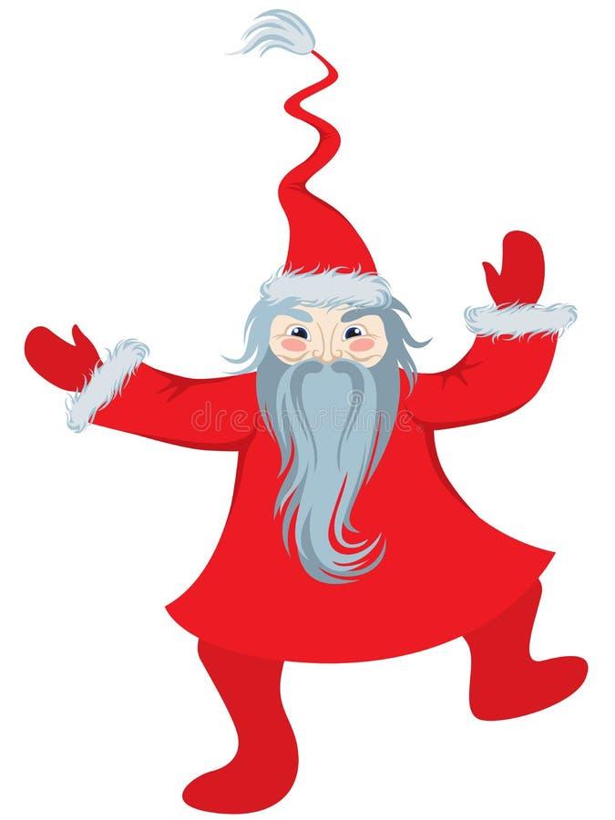 Het dansen van de Kerstman stock illustratie