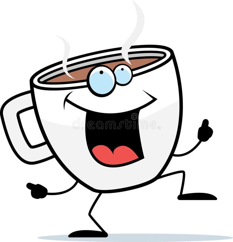 Het Dansen van de koffie royalty-vrije illustratie