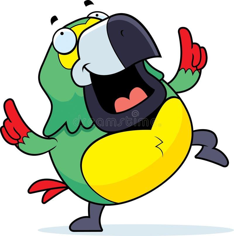 Het Dansen van de papegaai stock illustratie