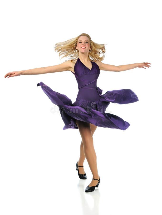 Het Dansen van de vrouw stock foto