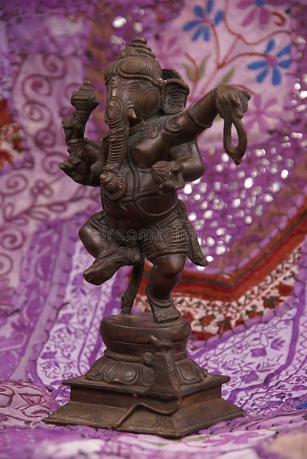 Het dansen van Ganesha van het brons stock afbeeldingen