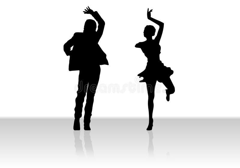Het dansen van het paar royalty-vrije illustratie