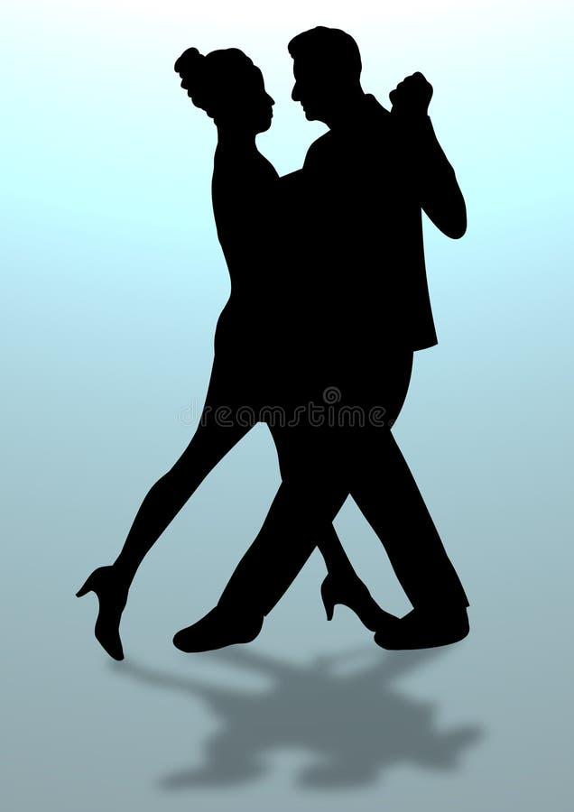 Het Dansen van het paar vector illustratie
