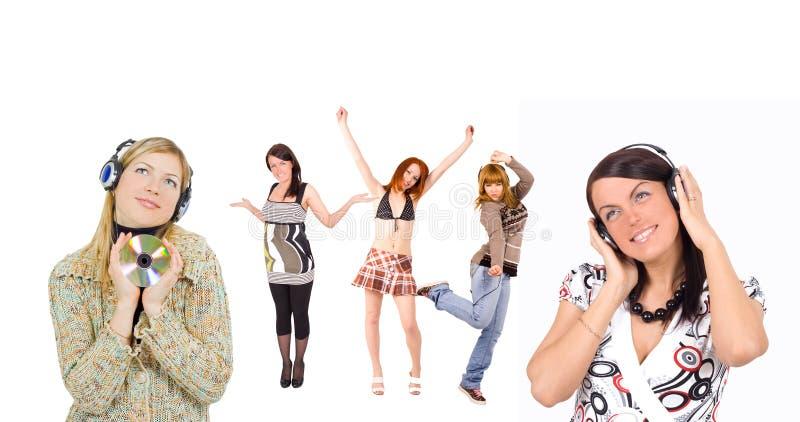 Het dansen van meisjes stock foto