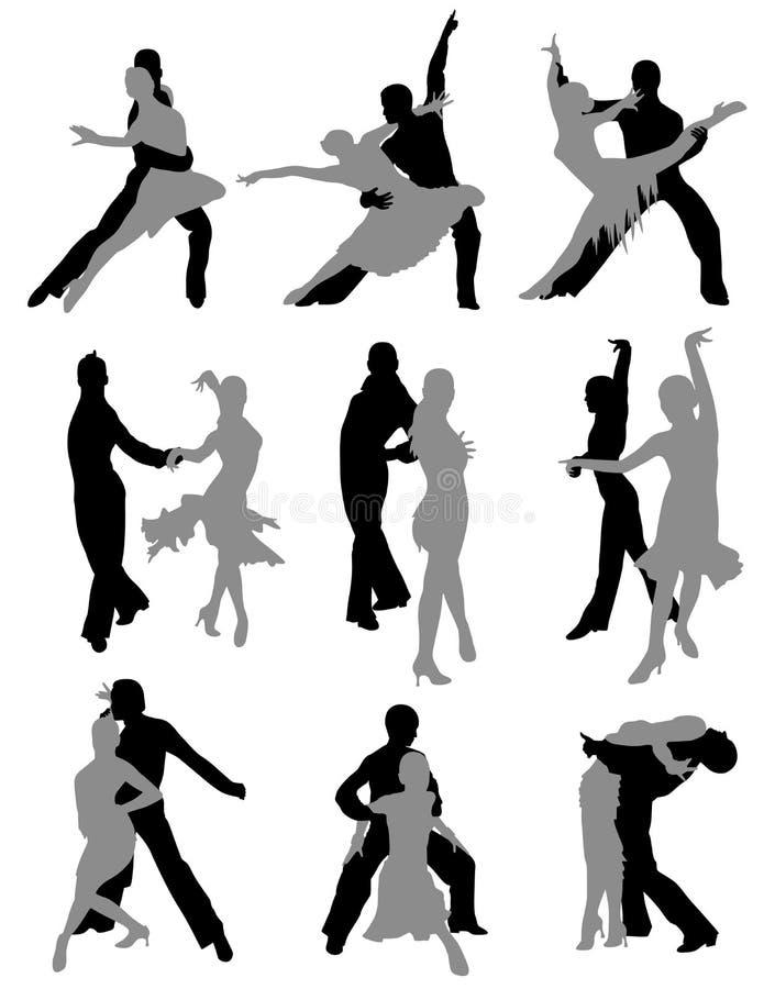 Het dansen van sporten royalty-vrije illustratie