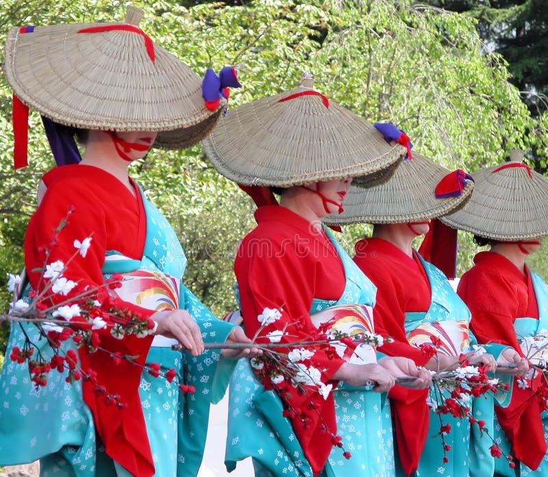 Het dansen van vrouwen stock foto