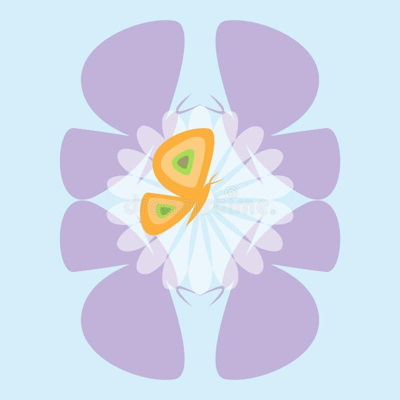 Het dansen vlinders royalty-vrije illustratie