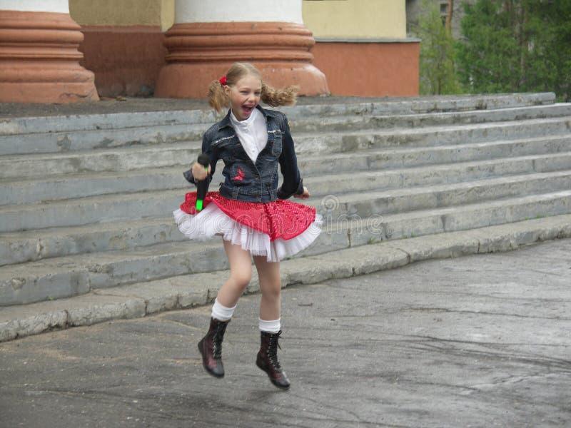 Het dansende meisje royalty-vrije stock foto