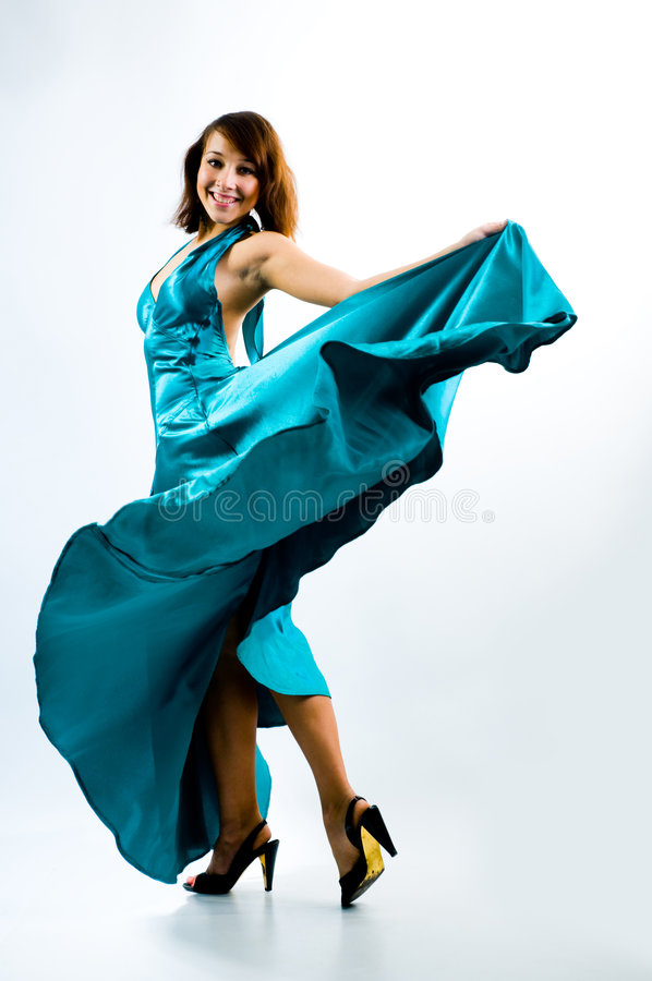Het dansende meisje stock afbeelding