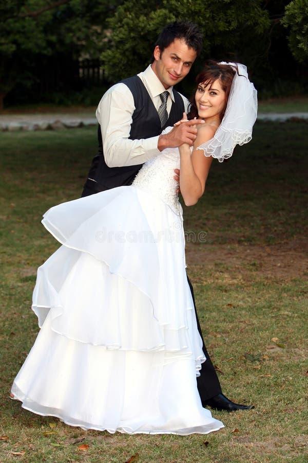 Het dansende Paar van het Huwelijk stock foto