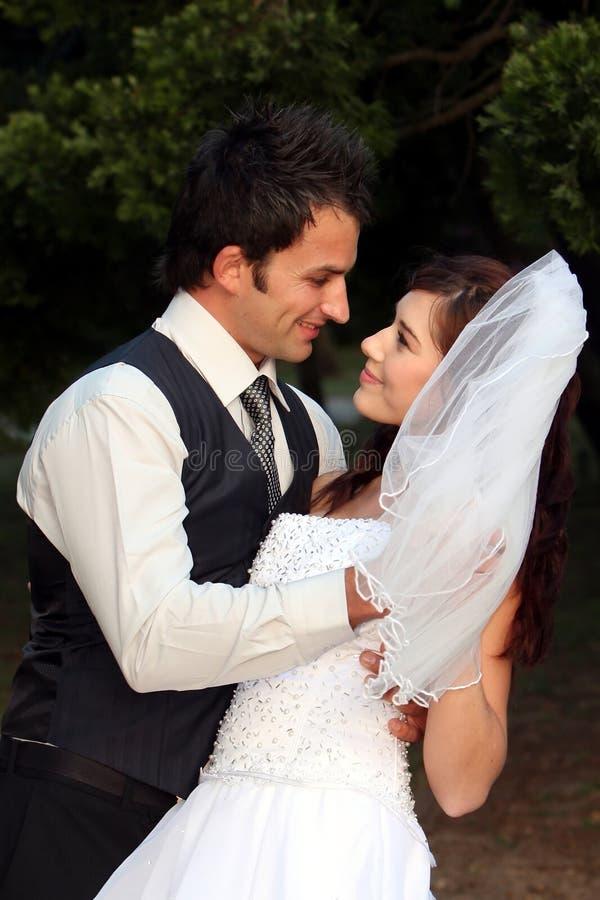 Het dansende Paar van het Huwelijk royalty-vrije stock foto