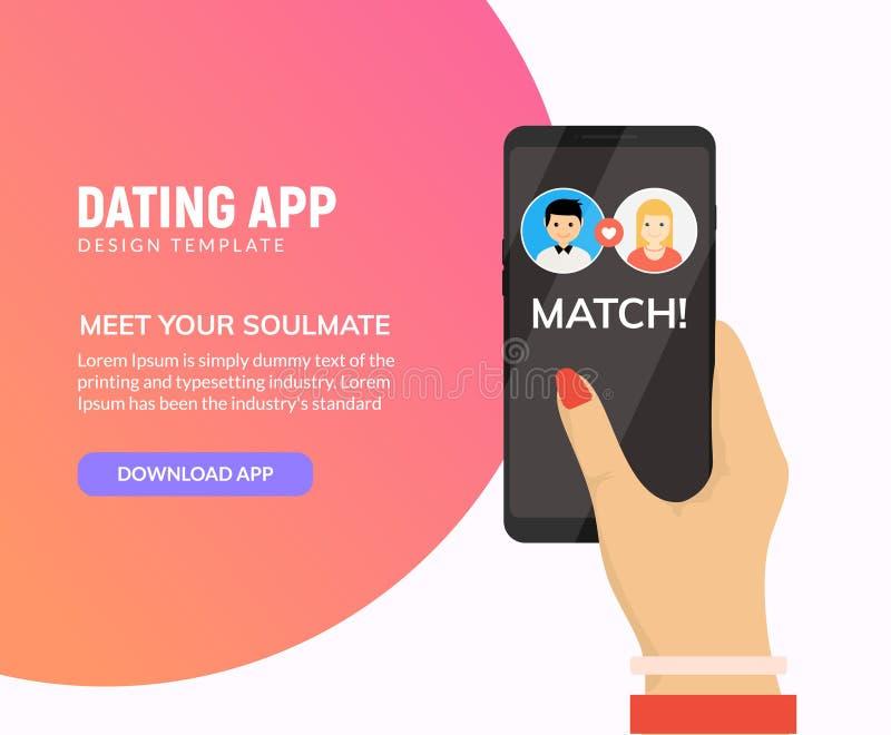 Het dateren van app online mobiel concept Vrouwelijk mannelijk profiel vlak ontwerp Paar die gelijke voor verhouding dateren vector illustratie