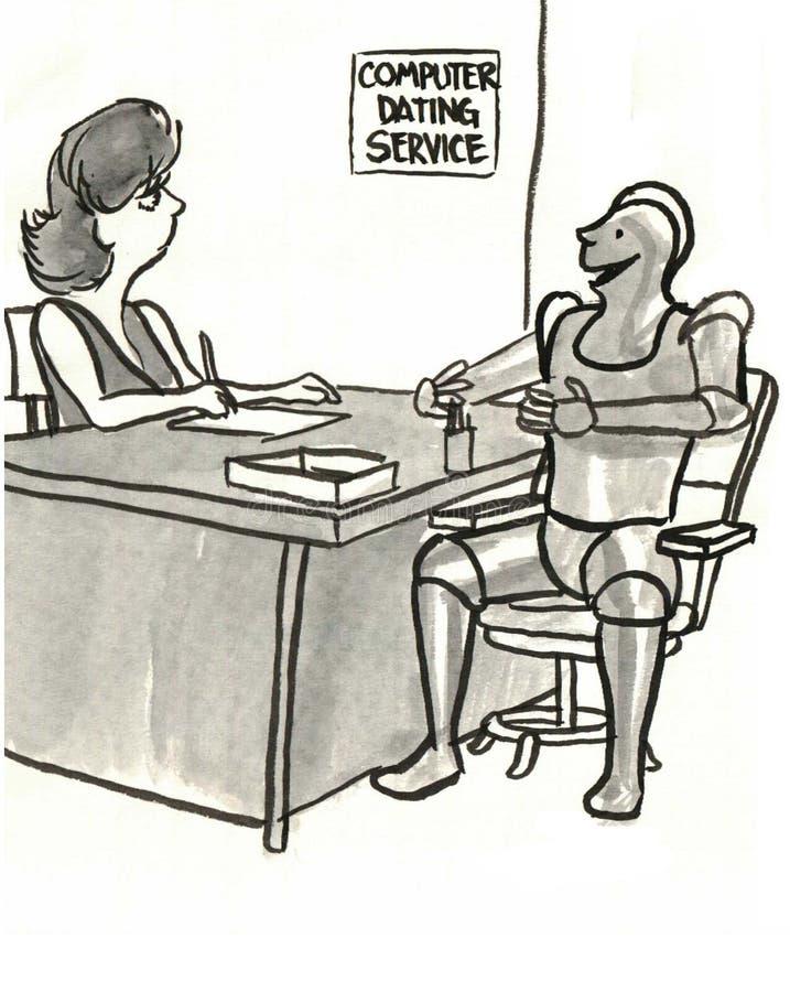 Het dateren van de Dienst stock illustratie