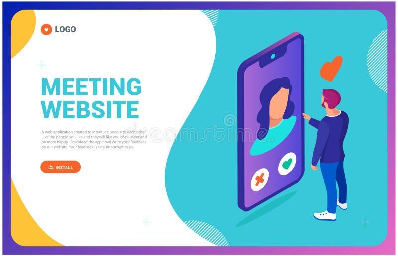Het dateren van plaats app Webpagina Nieuwe technologie?n als om te zetten download iets royalty-vrije illustratie