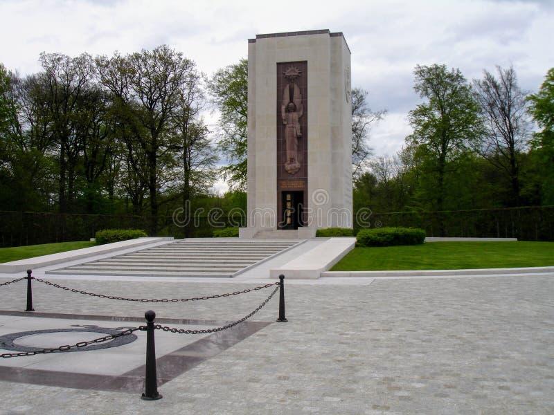 Het de Amerikaanse begraafplaats en gedenkteken van Luxemburg stock foto's