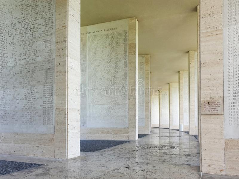Het de Amerikaanse Begraafplaats en Gedenkteken van Manilla royalty-vrije stock fotografie