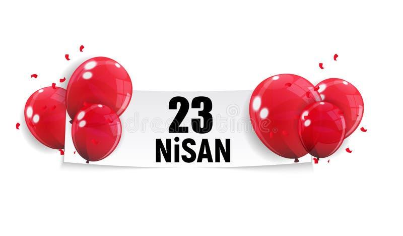 23 het de dagturks van April Children ` s spreekt: 23 Nisan Cumhuriyet Bayrami Vector illustratie royalty-vrije illustratie