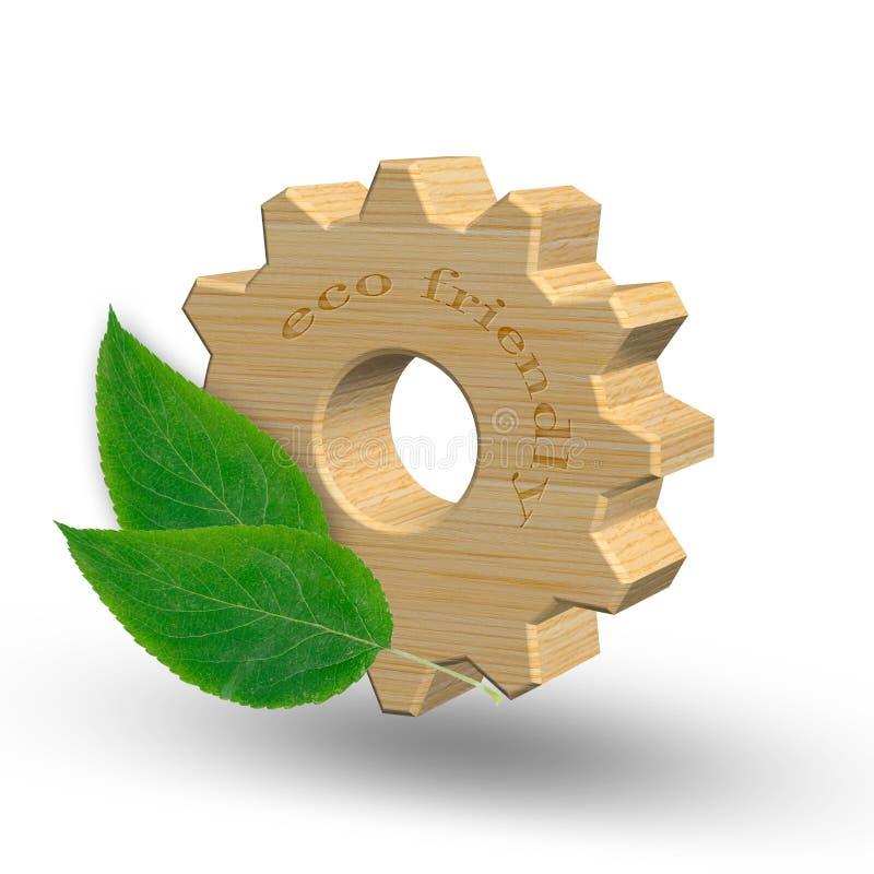 Het de Ecofrendlyindustrie en milieu beschermen concept 3D Illustratie stock illustratie