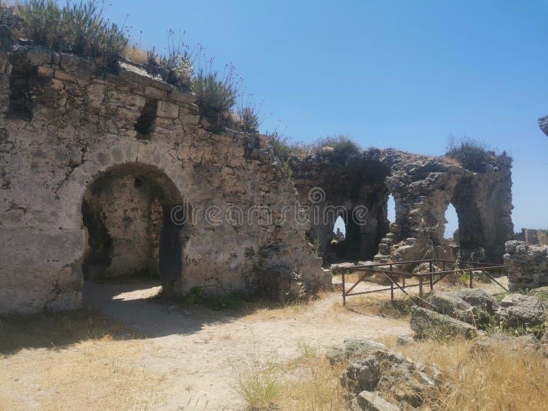 het de 6de Eeuw Byzantijnse Ziekenhuis stock afbeelding