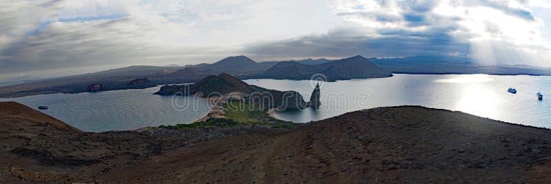 Het de Eilandenlandschappen en wild van de Galapagos stock foto