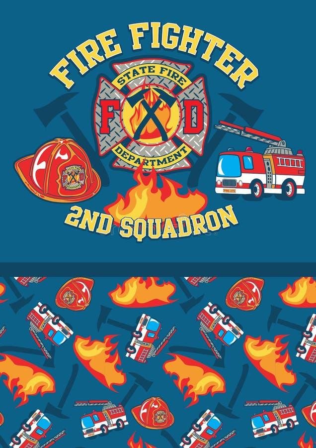 Het 2de eskader van de brandvechter. royalty-vrije illustratie