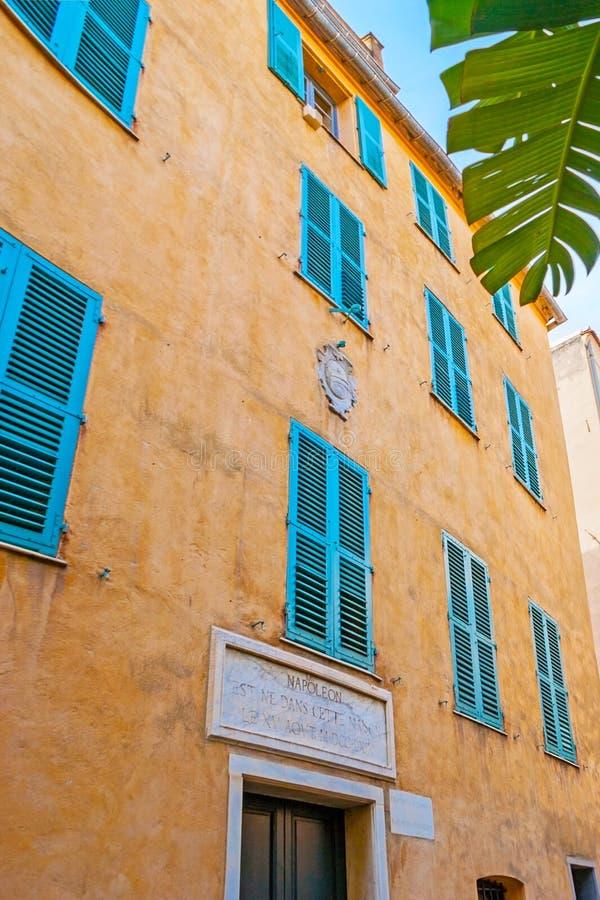 Het de geboortehuis van Napoleon stock fotografie