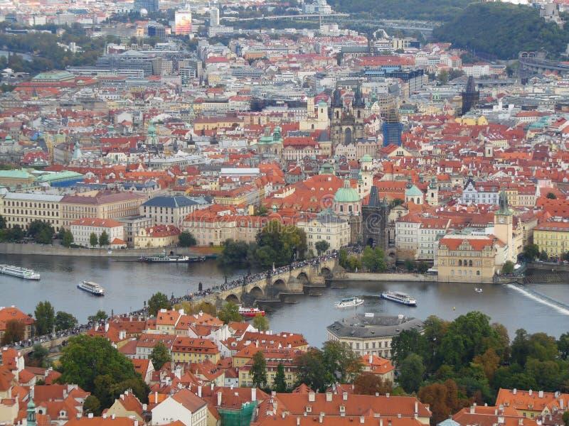 Het is de hoofd en grootste stad in de Tsjechische Republiek royalty-vrije stock foto