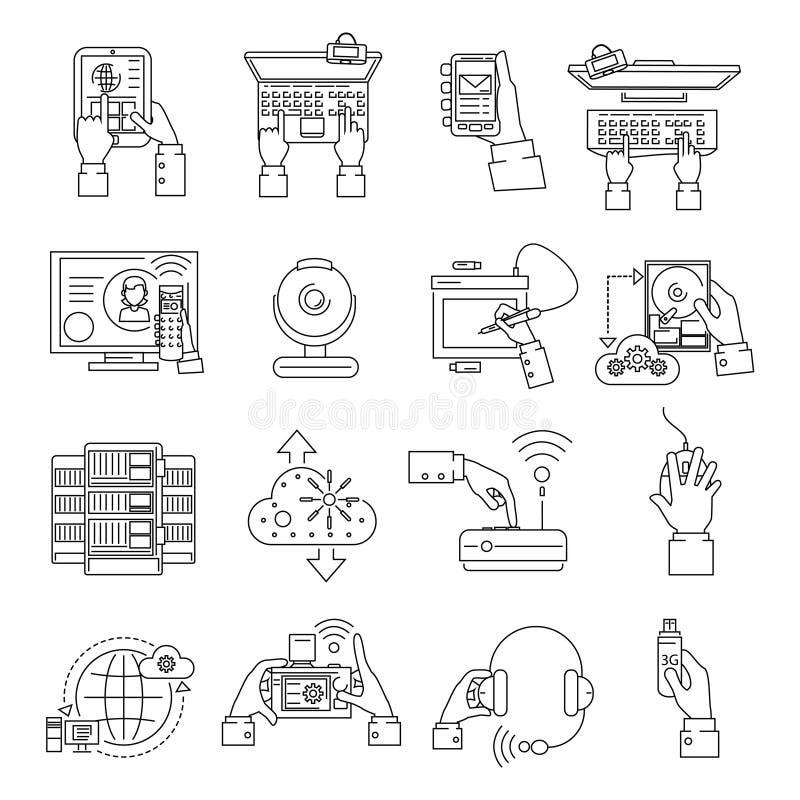 Het de Lijn van Apparatenpictogrammen stock illustratie
