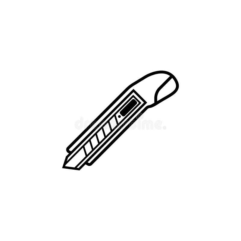 Het de lijnpictogram van de doossnijder, bouwt reparatieelementen vector illustratie