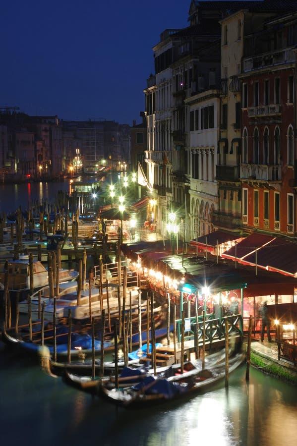 Het de nachtleven van Venetië, Italië stock foto