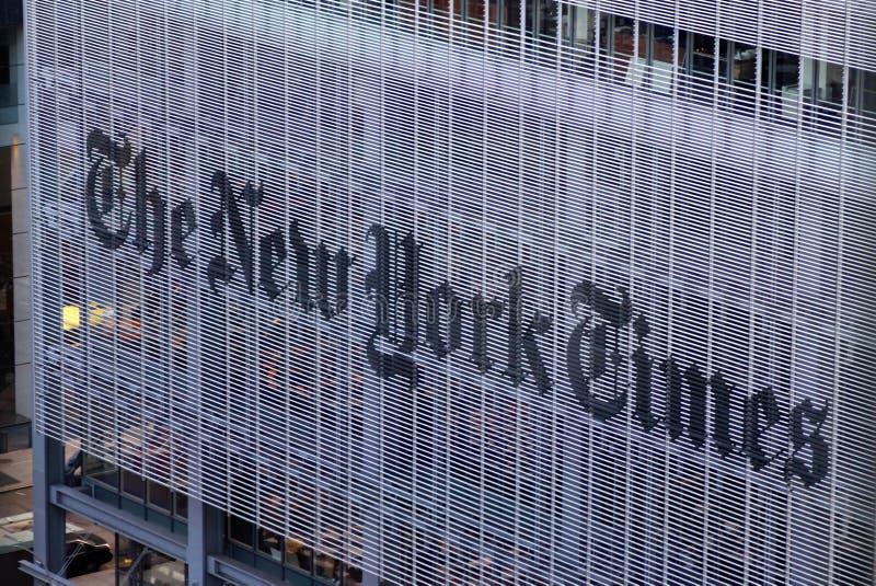 Het de New York Times-Dagboekgebouw, straatmening de stad van Manhattan, New York, de V.S. royalty-vrije stock afbeeldingen