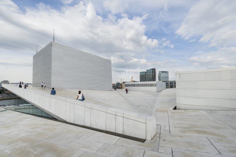 Het de Operahuis van Oslo, Noorwegen stock fotografie