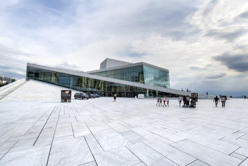 Het de Operahuis van Oslo, Noorwegen royalty-vrije stock afbeeldingen