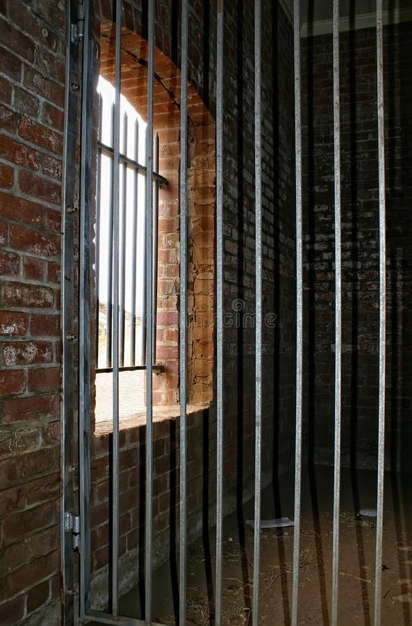 Het de oude Deur en Venster van de Cel van de Gevangenis royalty-vrije stock afbeeldingen