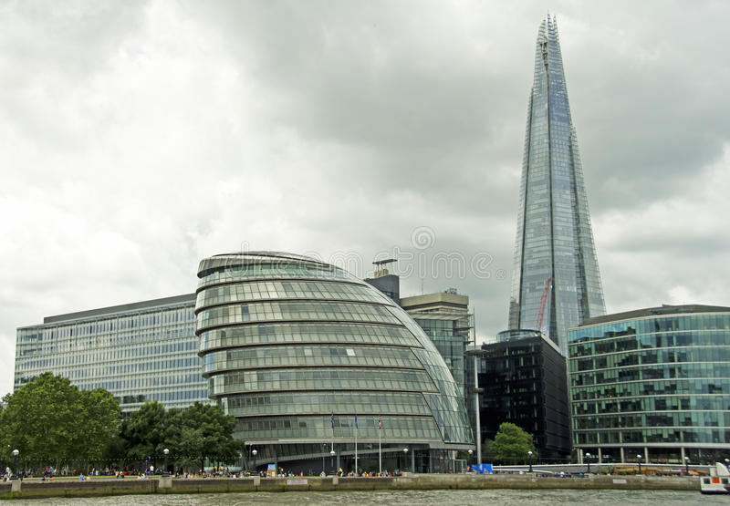 Het de Scherf & Stadhuis van Londen royalty-vrije stock afbeelding