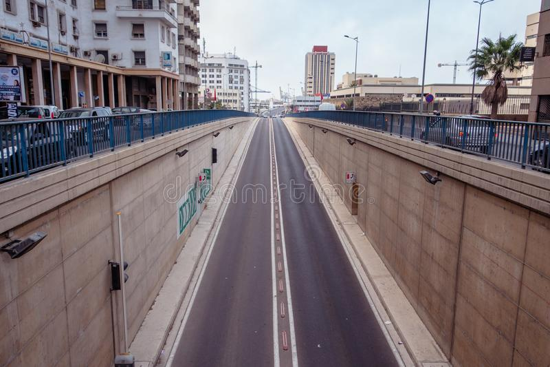 Het de straatleven van Casablanca royalty-vrije stock afbeelding