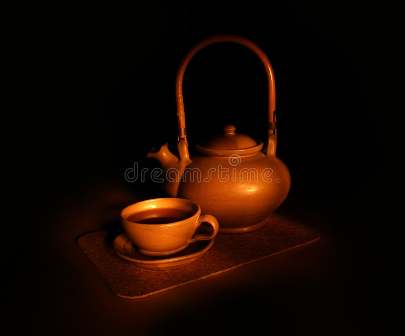 Het de thee nog-leven van de avond royalty-vrije stock afbeeldingen