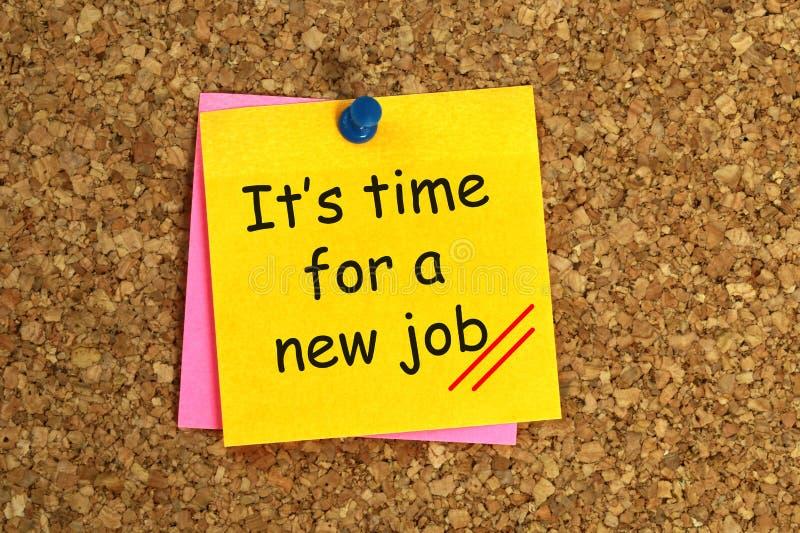 Het de tijd van ` s voor een nieuwe baan stock afbeelding