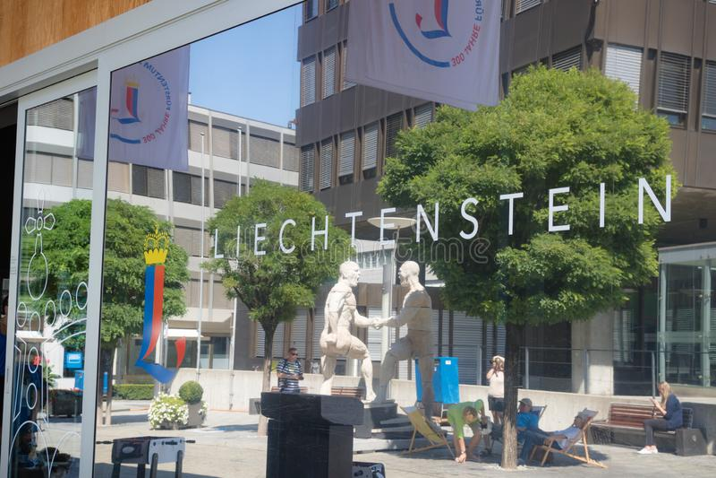 Het de toeristencentrum van Liechtenstein in Vaduz, Liechtenstein royalty-vrije stock afbeeldingen