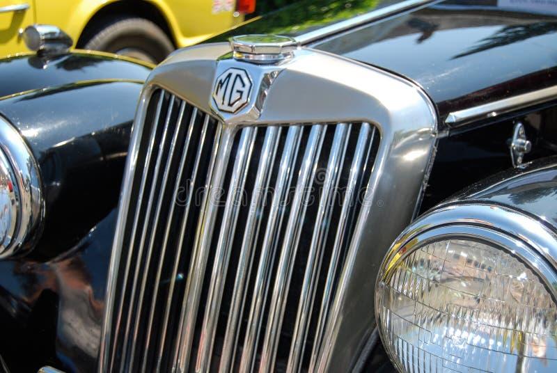 Het de uitstekende kap en embleem van MG stock foto