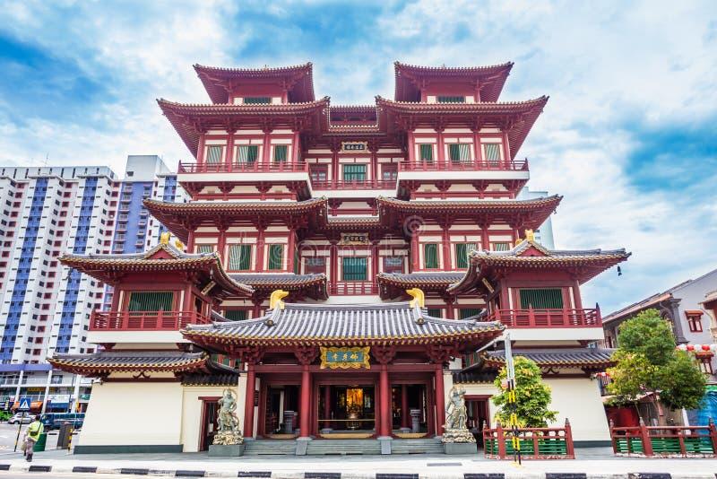 Het de van het de Tandoverblijfsel van Boedha Tempel en Museum, met Tang-dynastie architecturale stijl en gebouwd om het tandover stock foto