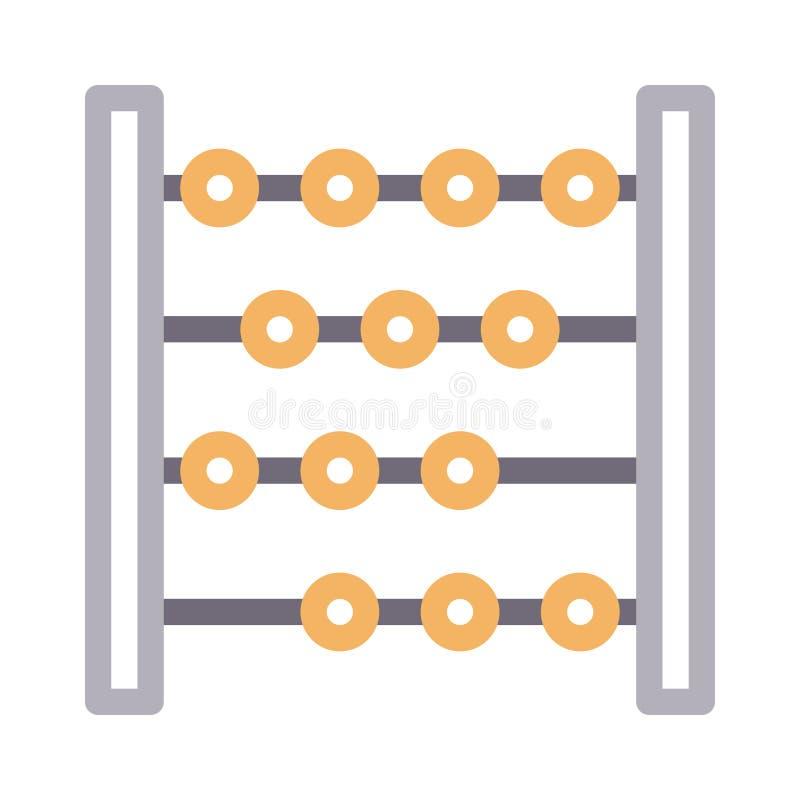 Het de vectorpictogram van de kleurenlijn van de berekening royalty-vrije illustratie
