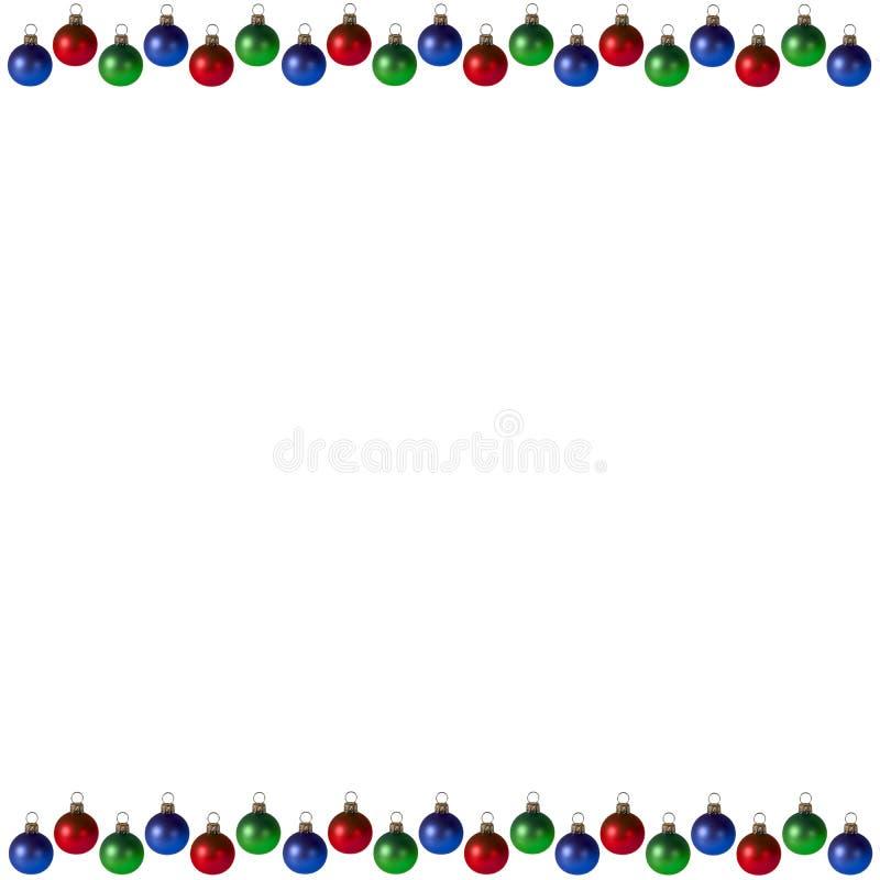Het de vierkante Achtergrond/Frame van Kerstmis stock foto