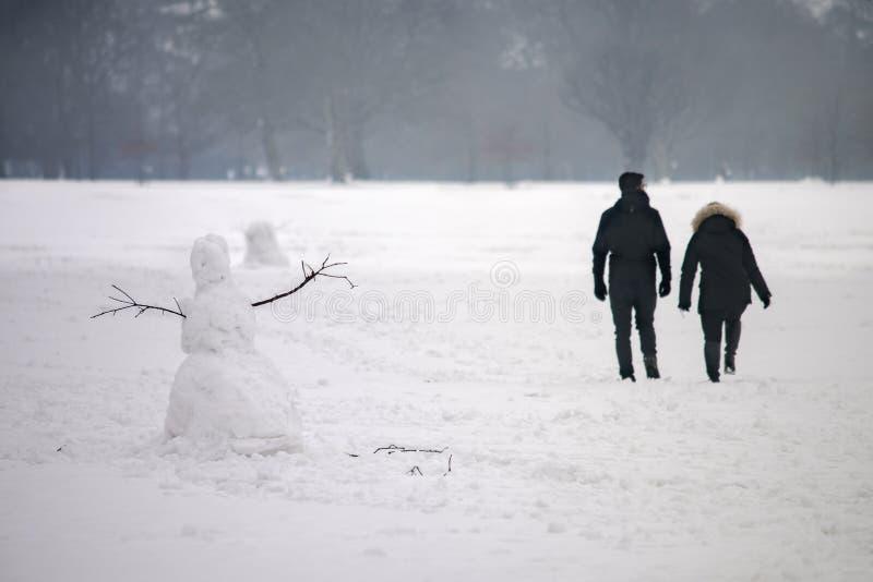 In het de winterpark royalty-vrije stock fotografie