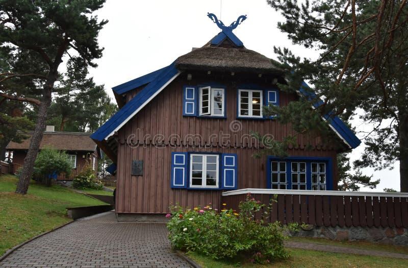 Het de zomerhuis van Thomas Mann in Nida royalty-vrije stock foto's
