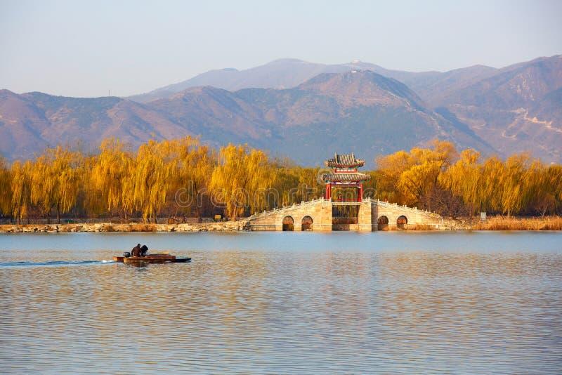 Het de zomerpaleis, Peking, China stock afbeelding