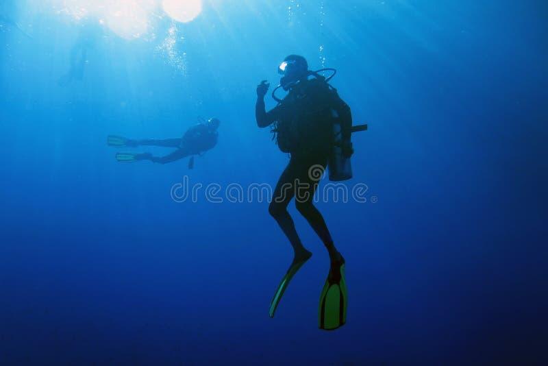 Het decompresseren na duikvlucht royalty-vrije stock afbeelding