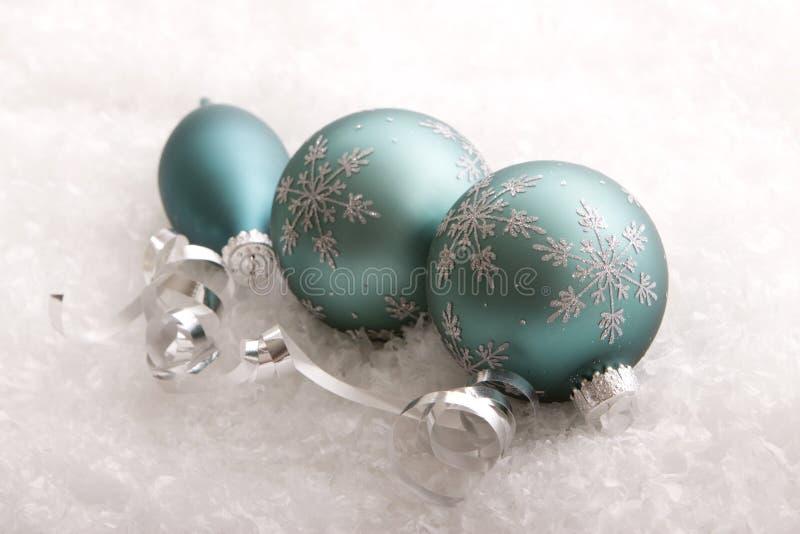Het decor en de sneeuwvlokken van Kerstmis royalty-vrije stock foto's